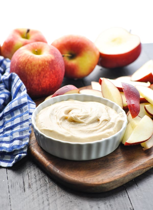 creamy caramel apple dip