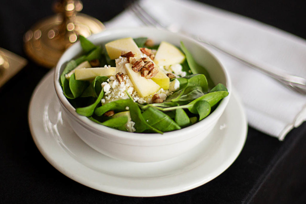 apple pecan spinach salad