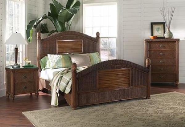 classic rattan bedroom