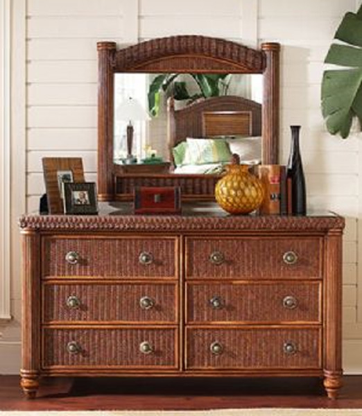 classic rattan dresser1